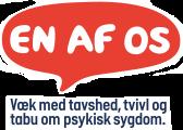 EN AF OS logo - Væk med tavshed, tvivl og tabu om psykisk sygdom.